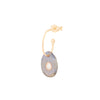 orso earring labradorite | 9 K yellow, labradorite & polki diamond |  Single
