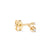Big spark earring | 18K yellow Gold | Single