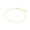 bracelet 001 | 14k yellow gold & white diamond