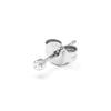 Earring 001 | 14K white gold & diamond | Single