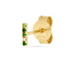 Earring 003 green color | 14K yellow gold, green garnets & diamond | Single