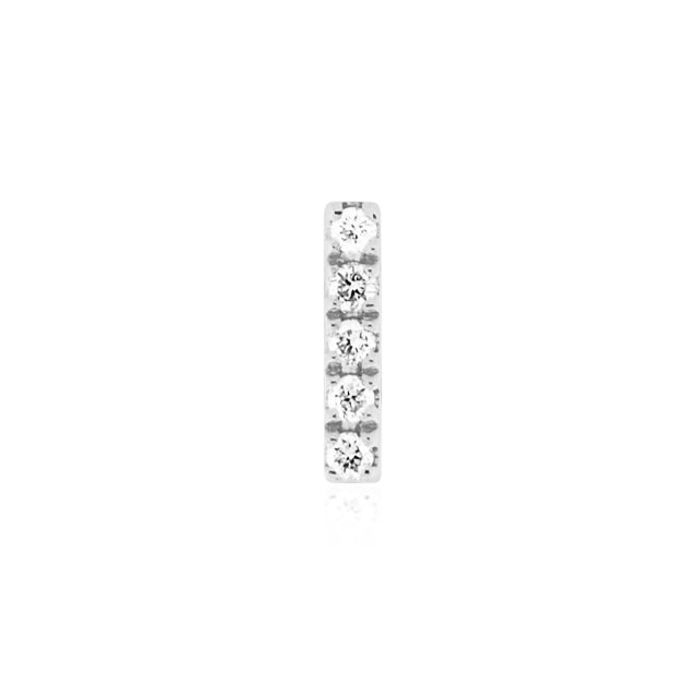 Earring 003 | 14K White gold & diamond | Single
