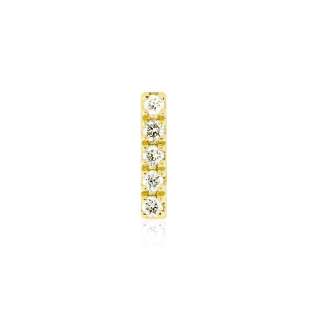 Earring 003 | 14K Yellow gold & diamond | Single