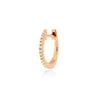 huggie 002 | 14k rose gold & white diamonds | single