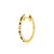 huggie 003 blue color | 14K yellow gold, blue sapphires & white diamonds | Single