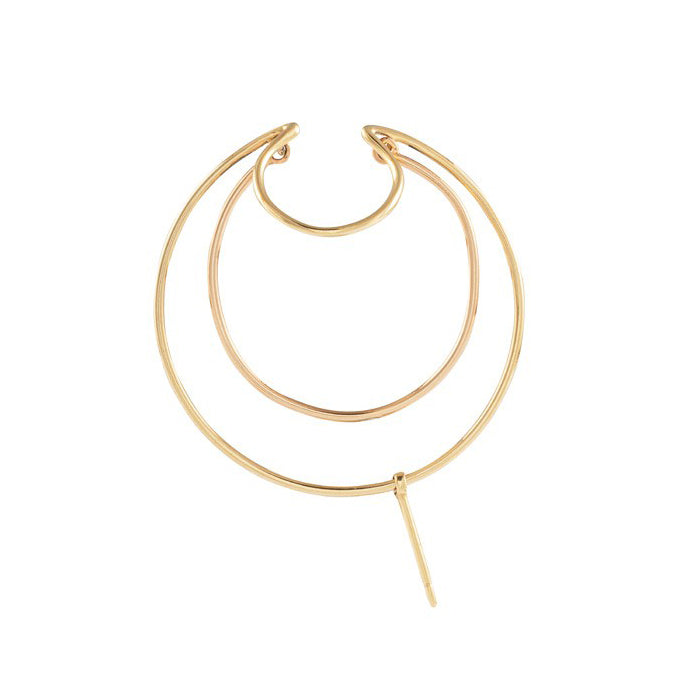 triple bangle gold earring