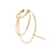 Triple bangle gold earring | 18K yellow Gold | Single