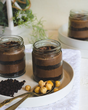 Chocolate Hazelnut Cheesecake Jar [200ml]-Cake jar-BAKEBURRY