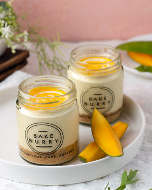 Mango Cheesecake Jar [200 ml]-Cake jar-BAKEBURRY