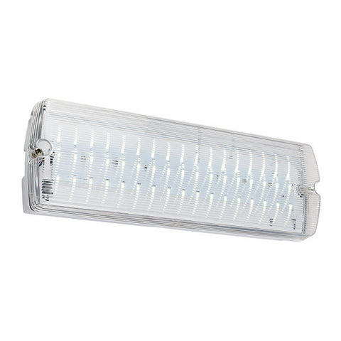 Clipo 3 Watt IP65 Cool White (6000K) LED Non-Maintained Emergency Bulkhead