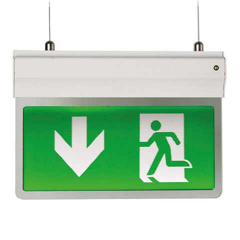 Beautiful Suspended Exit Signs   Emergency Lighting Direct   EML Direct DJ84