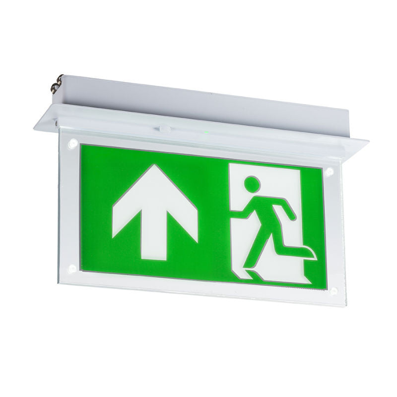 2 watt recessed led emergency exit sign emergency lighting direct 2 watt recessed led emergency exit sign mozeypictures Images