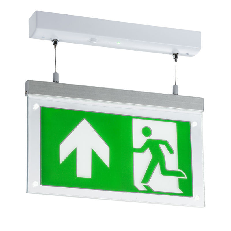 2 Watt Led Suspended Double Sided Emergency Exit Sign Emergency Lighting Direct