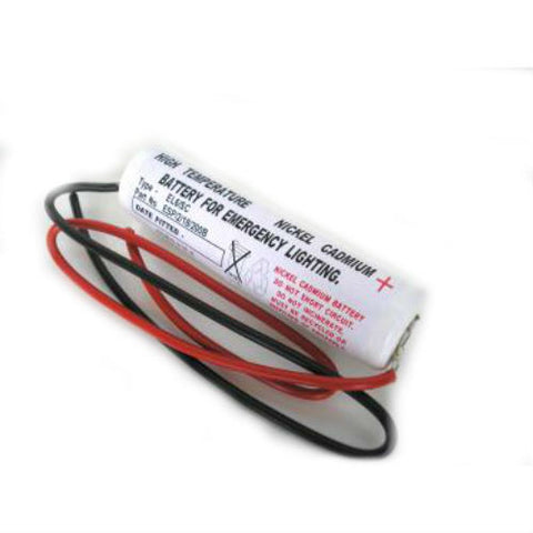 2 Cell NiCd 2.4 Volt 1.6Ah Sub C Stick Battery Pack C/W Bare End Leads