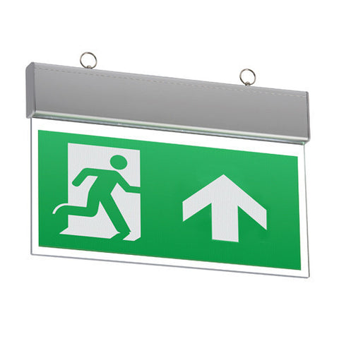 Ideal Suspended Exit Signs   Emergency Lighting Direct   EML Direct EC84
