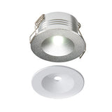 3 Watt 120lm LED Non Maintained Silver/White Downlight Kit