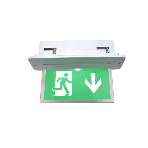 LED Recessed Emergency Exit Sign