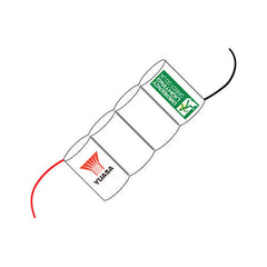 4 Cell Ni-Cad 4.8V 4Ah Side By Side Battery Pack