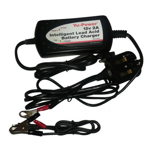 12 Volt 2 Amp Intelligent Lead Acid Battery Charger