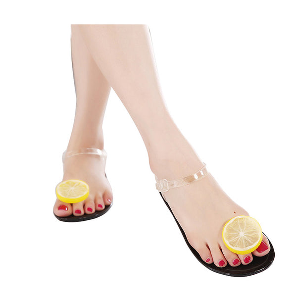 Lemon Flip Flops - Jelly Sandals