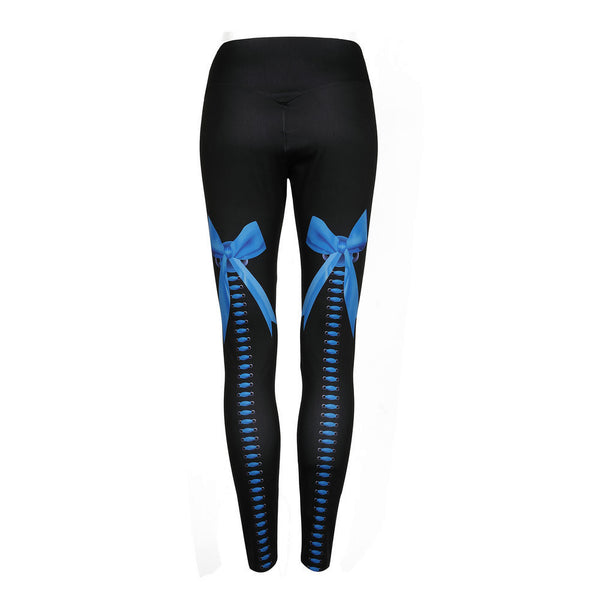 Bow Printed Gym - Yoga Workout Leggings