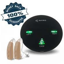 Load image into Gallery viewer, Last Chance Offer! Buy 1 Nano RX2000 Rechargeable Hearing Aid Get The Second Ear FREE! Free portable charging case ($97 value)