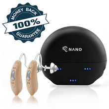 Load image into Gallery viewer, 🔥 ON SALE: Buy 1 New Nano Model X2 Recharge Hearing Aid And Get The Second Ear FREE! Plus Get a FREE Portable Charging Case Worth $195!