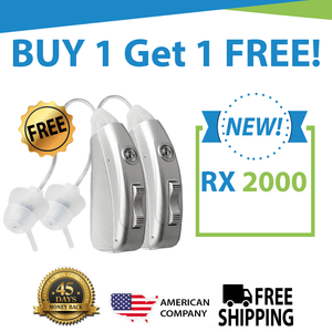 🔥 Buy 1 Get 1 FREE Sale! Buy 1 Nano RX2000 Rechargeable Hearing Aid Get The Second Ear FREE! Get an Entire Pair for Only $397! NEW Color Options!