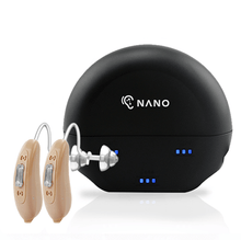 Load image into Gallery viewer, Buy 1 New Nano Model X2 Recharge Hearing Aid And Get The Second Ear FREE! Plus Get a FREE Portable Charging Case Worth $195!