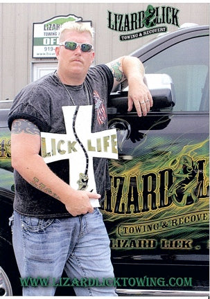 Ron Shirley Post Card with Lizard Lick Logo