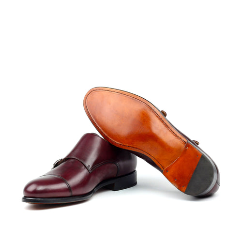 Brummel Double Monk Strap - Burgundy