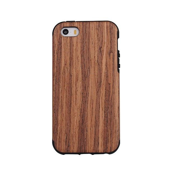 Phone Cases - Flexible Wood Pattern IPhone Case / Red
