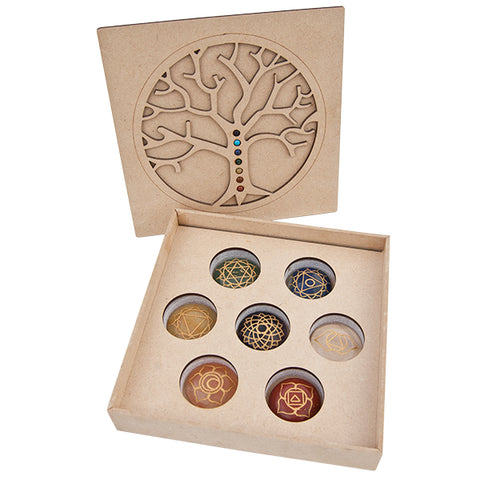 Box of Chakra Engraved Stones