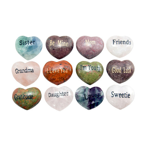 Engraved Heart Gems