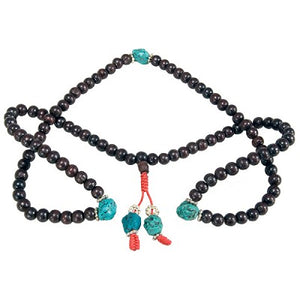 Rosewood w/ Stone Prayer Beads