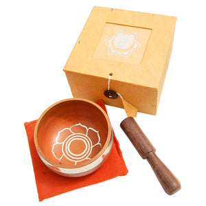 Orange Singing Bowl Set