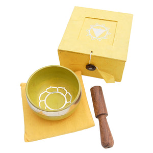 Yellow Singing Bowl Set