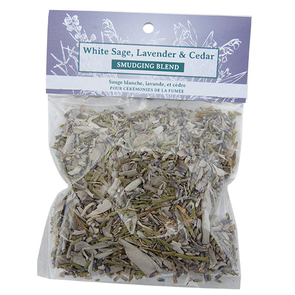 White Sage, Lavender and Cedar Smudge Blend