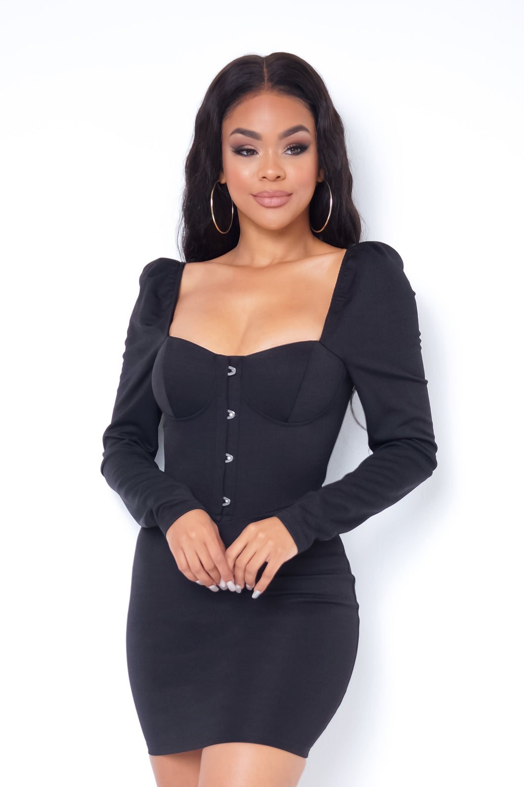 Melany Mini Dress - Black