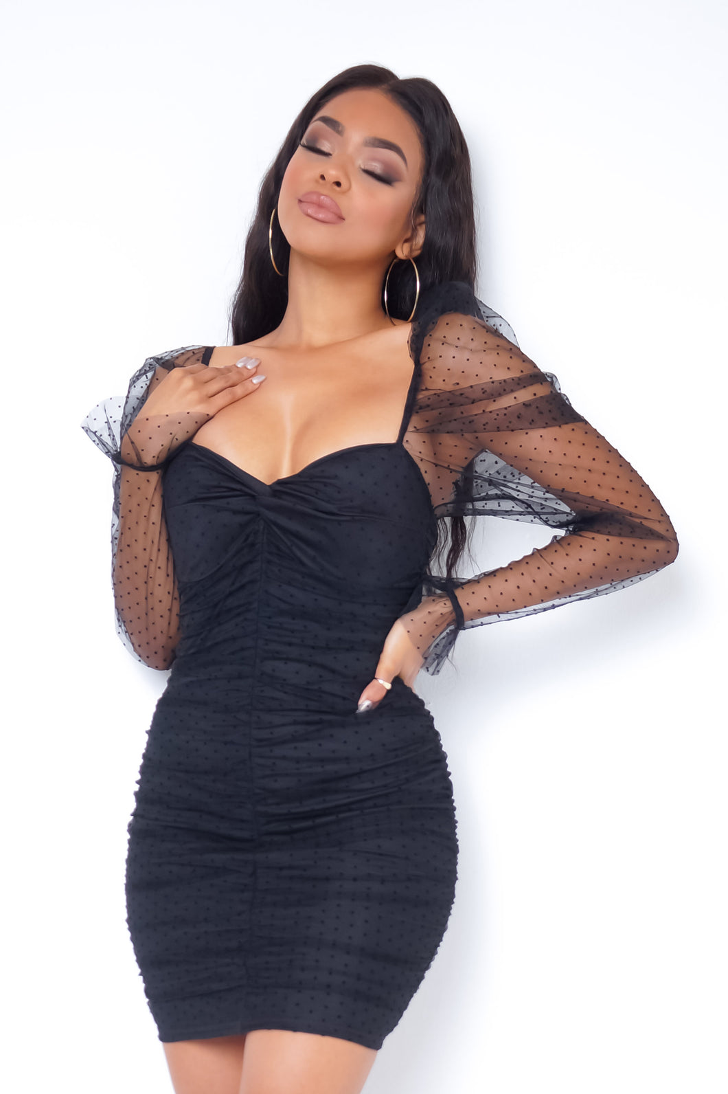 Lovebug Mini Dress - Black