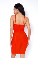 Holland Mini Dress - Red Orange
