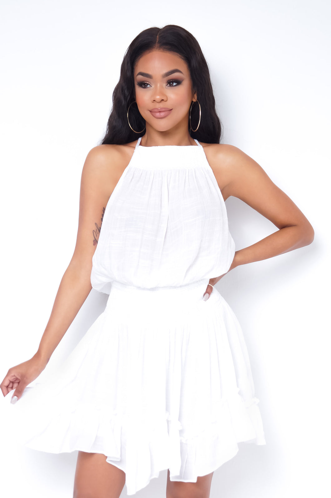 Susie Mini Dress - White