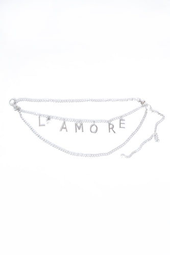 L' AMORE Chain Belt - Silver & Gold