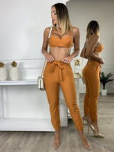 Fashion Delay Two Piece Pant Set - Orange