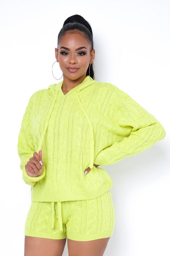 Rita Two Piece Short Set - Lime
