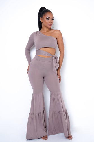 Brooklyn Two Piece Pant Set - Mauve