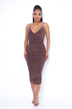 Arianna Midi Dress - Brown
