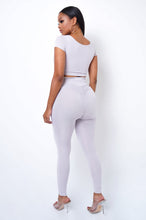 Second Skin Two Piece Pant Set - Ivory