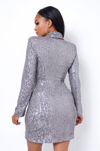 Roxana Mini Dress - Silver