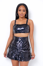 Celeste Two Piece Skirt Set - Black